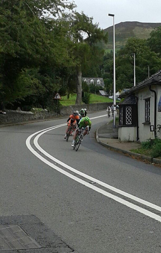 Tour of Britain Race 2013 through Llanbedr