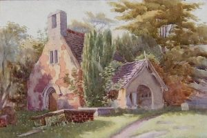 Old St Peters Church painting