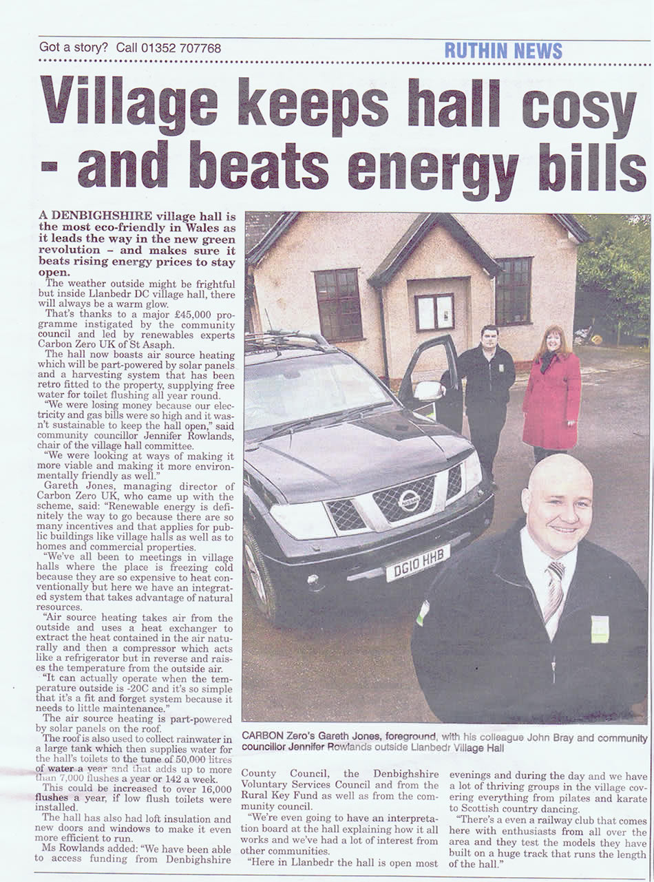Denbighshire Free Press article 2013