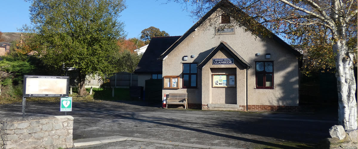 Llanbedr DC village hall